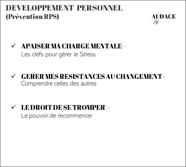 Thématique : Développement personnel