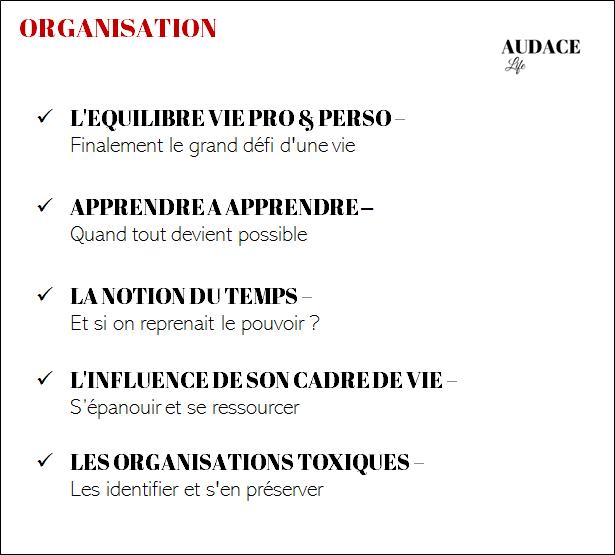 Thématique : Organisation